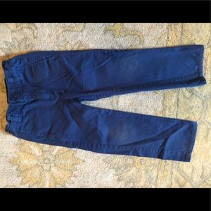 Size 110 (5T) Hanna Andersson blue pants.